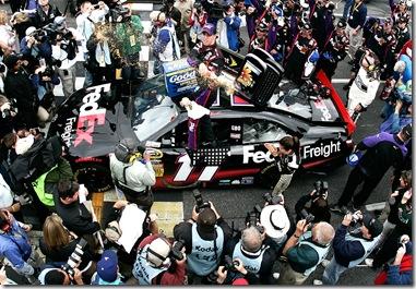 2010 Martinsville Mar NSCS Denny Hamlin Victory Lane