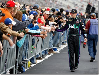 Denny and fans prerace