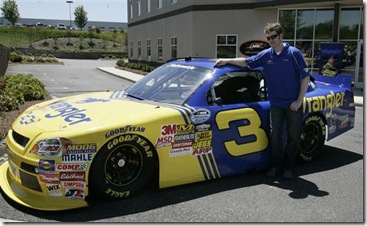 2010 Mooresville April No 3 unveiling Dale Earnhardt Jr with car