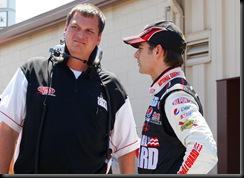 2009 Michigan June NSCS practice Jeff Gordon Steve Letarte
