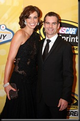 2009 Las Vegas Dec Champions Week Awards Banquet Ingrid Vandebosch and Jeff Gordon red carpet