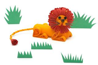 3D quilled lion