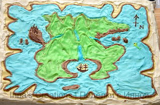A map of Neverland cake