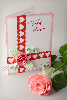 With Love. Card with spiral rose