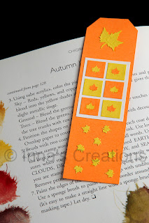 Bookmark with autumn leaves