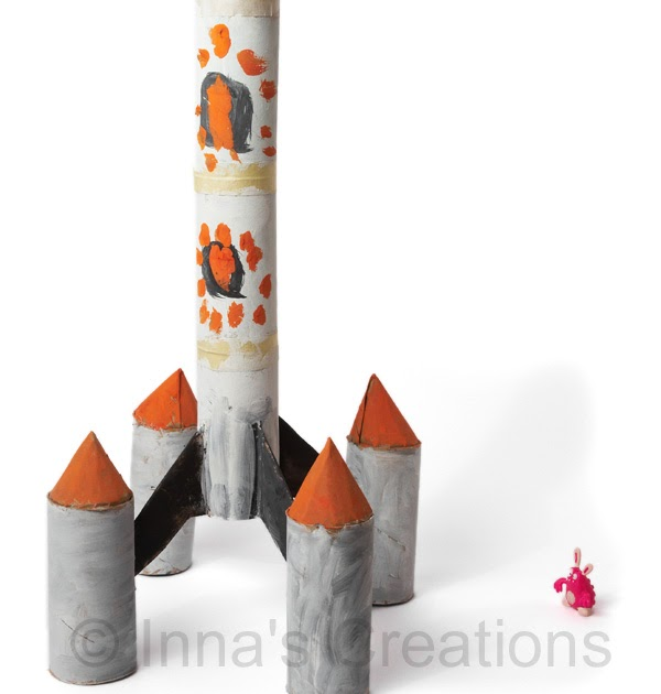 Inna U0026 39 S Creations  Make A Space Rocket Toy From Toilet