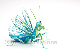 Praying mantis, 3D quilling
