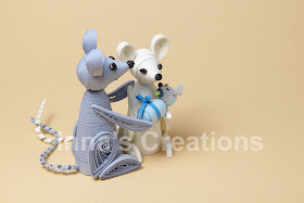 Quilled mice, side view