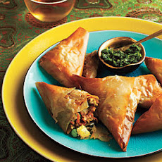 Vegetable Samosas with Mint Chutney
