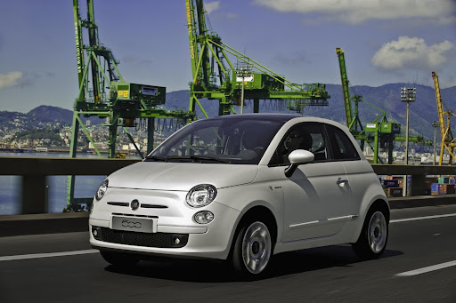 The Fiat 500 display