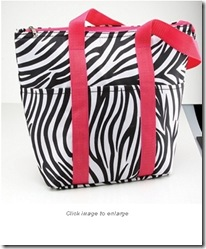 Insulated Zebra Bag