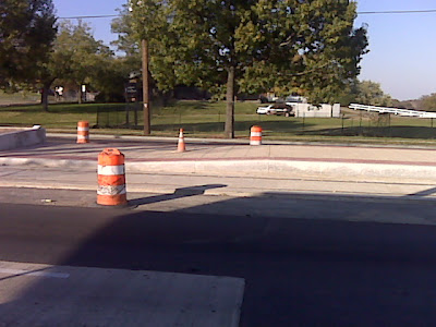 Streetcar platform from southwest corner of Oklahoma & Benning