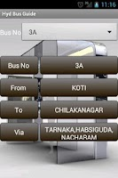 Screenshot of Hyderabad Bus Guide