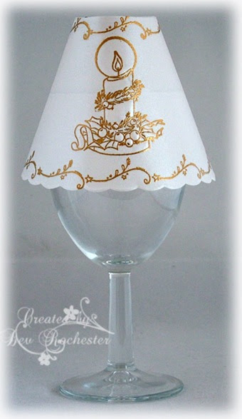 All My Sketches Wine Glass Lamp Shade