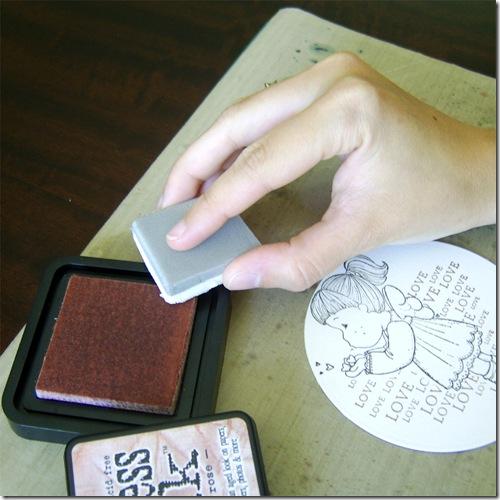 Ink to blending foam