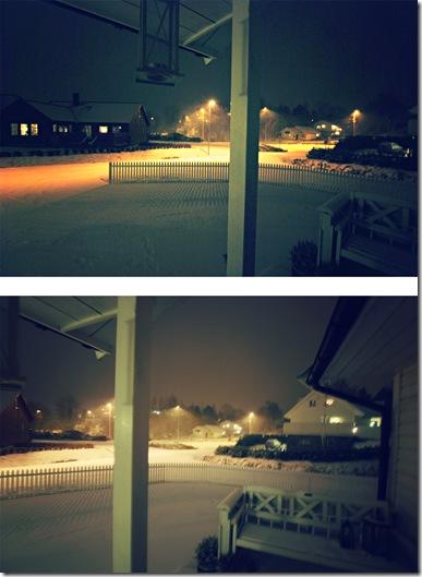 det snør