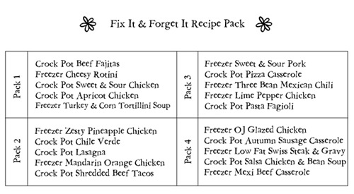 Fix It & Forget It Recipe Pack2