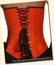 lvg9074-orange-satin-overbust-corset-back-1