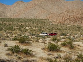 Our vehicles in Indian Valley - Anza Borrego Desert