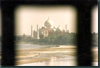 Taj frm Fort Window