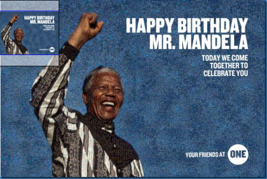 Happy Birthday Mr. Mandela