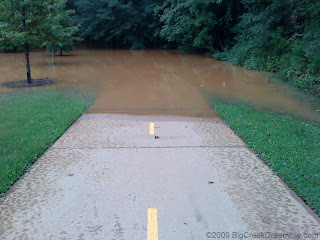Big Creek Greenway Flooding