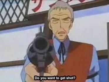 Pais não gostam que apontem armas para os seus filhos na TV. - Top 10: Eposódios censurados de Pokémon Nintendo Blast