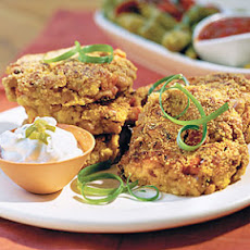 Black-eyed Pea Cornbread Cakes With Jalapeño Sour Cream