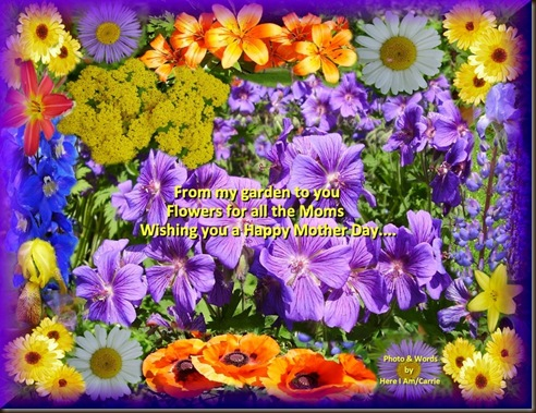Flower frame All Moms Happy Mothers Day