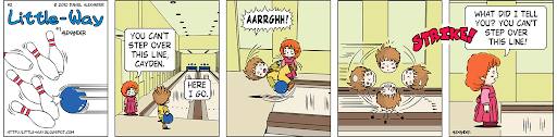 Little-Way-Webcomic-#00002: Bowling Over The Line