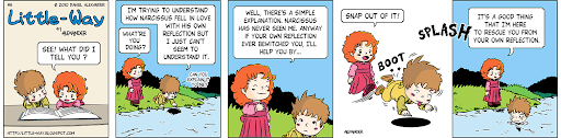 Little-Way-Webcomic-#00005: Mesmerizing Reflection