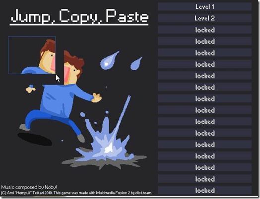 Jump,copy,paste freeware game