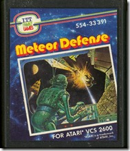 Atari meteor defense