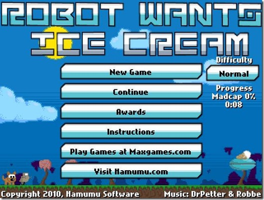 Robot wants Ice Cream free web game (1)