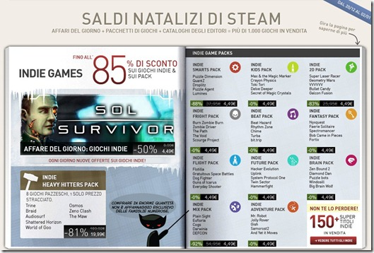 saldi natalizi di Steam