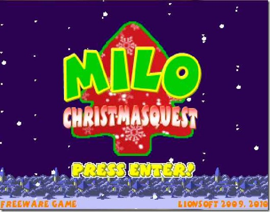 MILO CHRISTMAS QUEST free indie game (2)