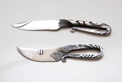 Couteaux brut de forge pour casse croûte