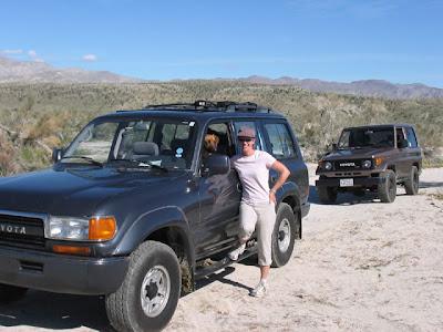 Toyota land Cruiser FJ80 in Anza Borrego Desert State Park