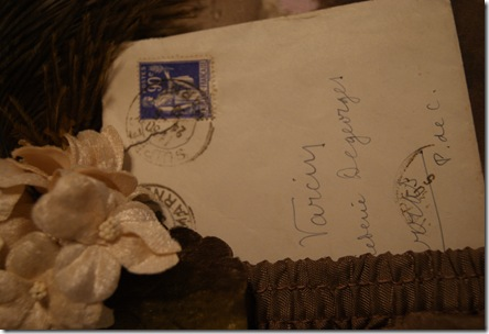 Sepia close up of letter