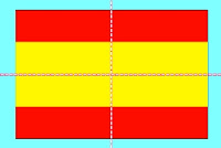 Flag of Spain: line symmetry