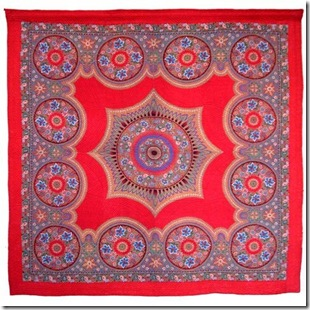 paisley panel quilt