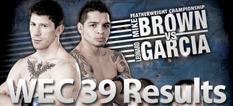 WEC чемпион в полулегком весе Майк Браун (Mike Brown) vs Леонард Гарсия (Leonard Garcia)