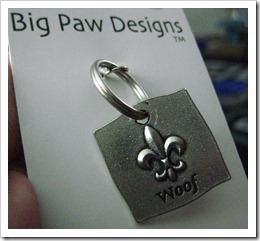 Big Paw Designs Fleur de Li Woof Collar Charm