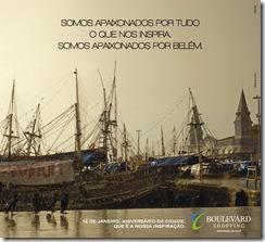 Anúncio Boulevard aniversário de Belém