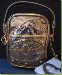 BABY PHAT CELL PHONE CASE, HANDBAG PURSE, gold, NWT