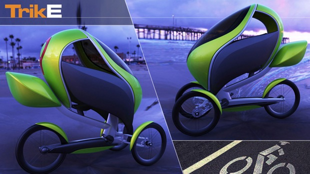 TrikE: Three Wheeled Modern Electric Urban Bike