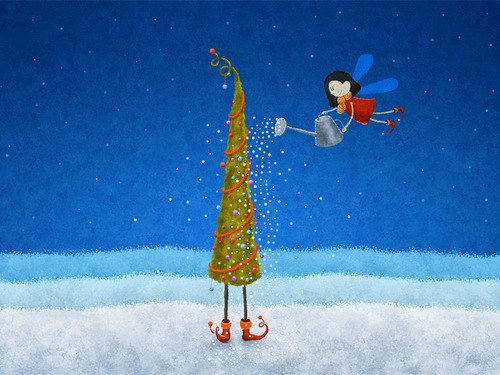 Illustrated-Christmas-desktop-wallpapers