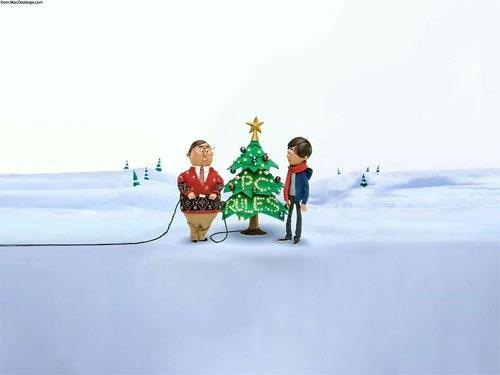 3d Cartoon Christmas Wallpaper