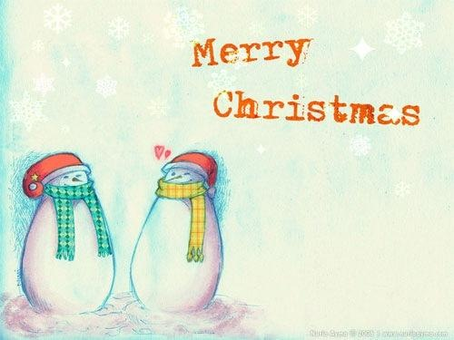.Penguins Greet in Christmas