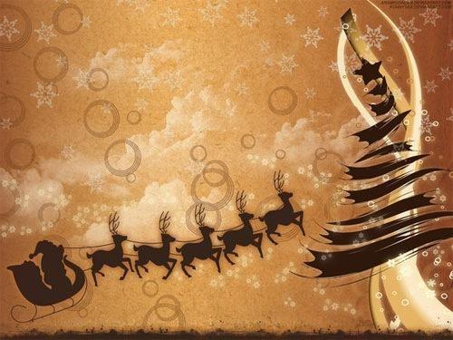 Beautiful Brown Christmas Wallpaper